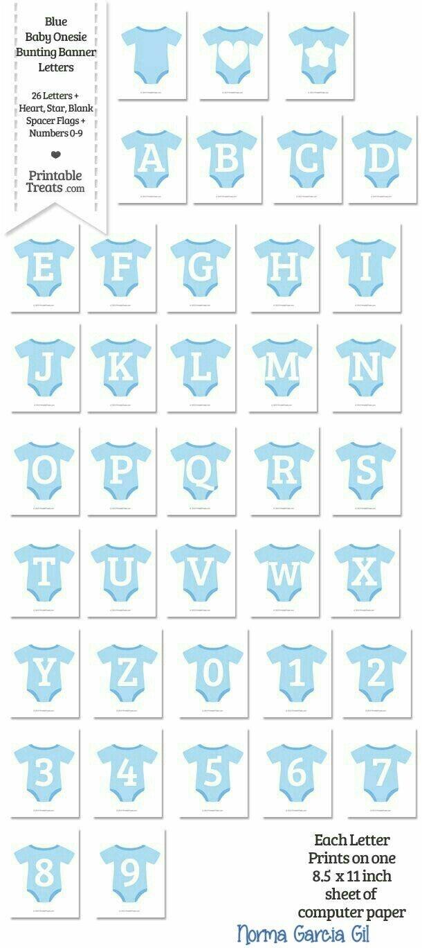Babyshower Boy Trajesitos Azul Con Letras | Babyshower | Baby Shower - Baby Shower Bunting Free Printable