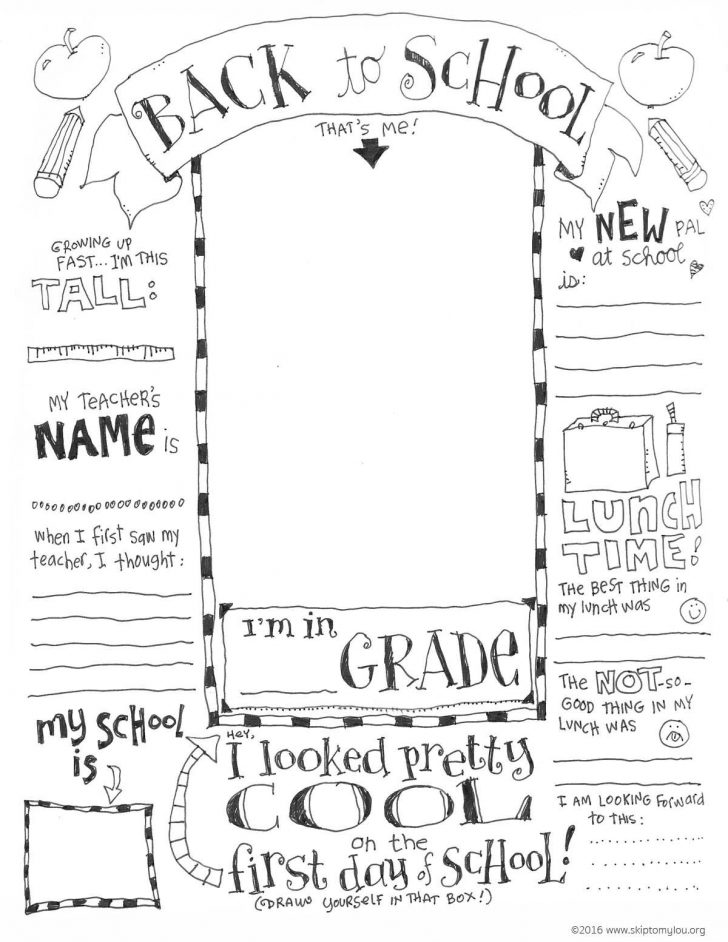 Free Printable First Day Of School Coloring Pages
