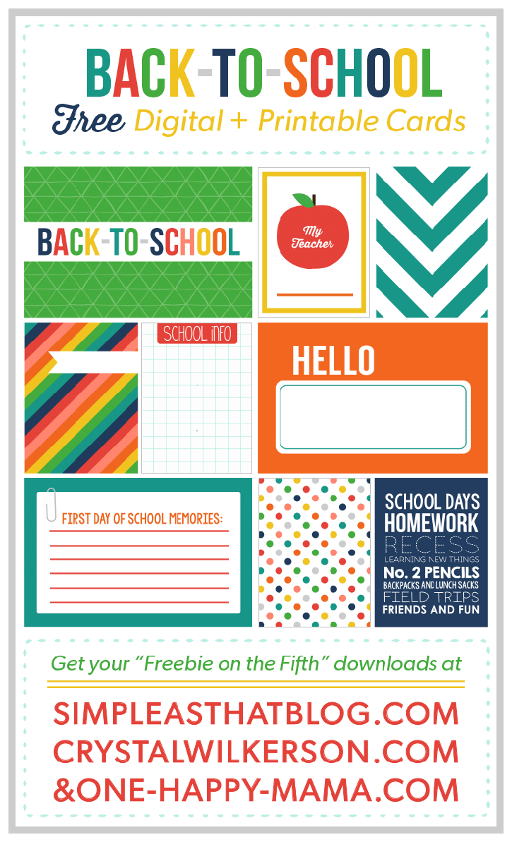 Back To School Journaling + Filler Cards | Diy Back To School Ideas - Free Printable Back To School