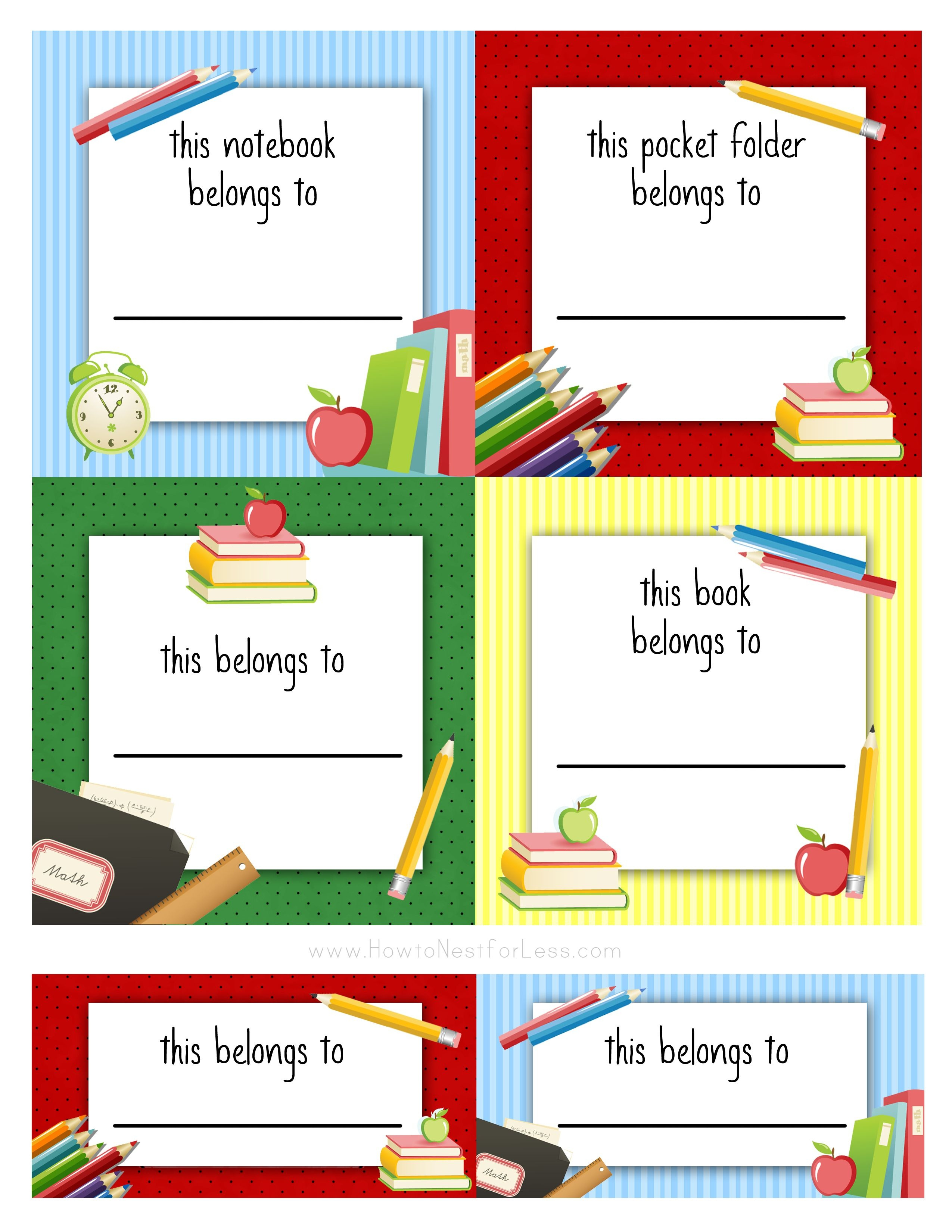 Back To School Labels For Kids   Printables, Freebies, Diy   Kids - Free Printable Name Labels For Kids