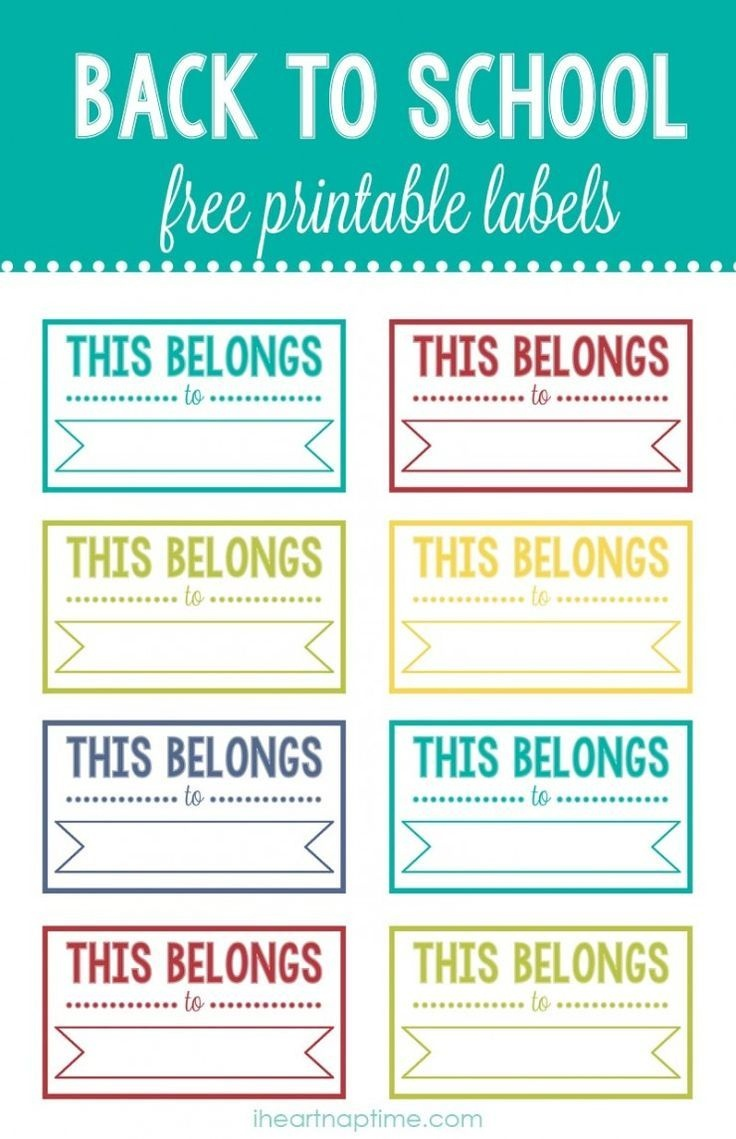 Back To School Printable Labels   I ♥ Diy   School Labels - Free Customized Name Tags Printable