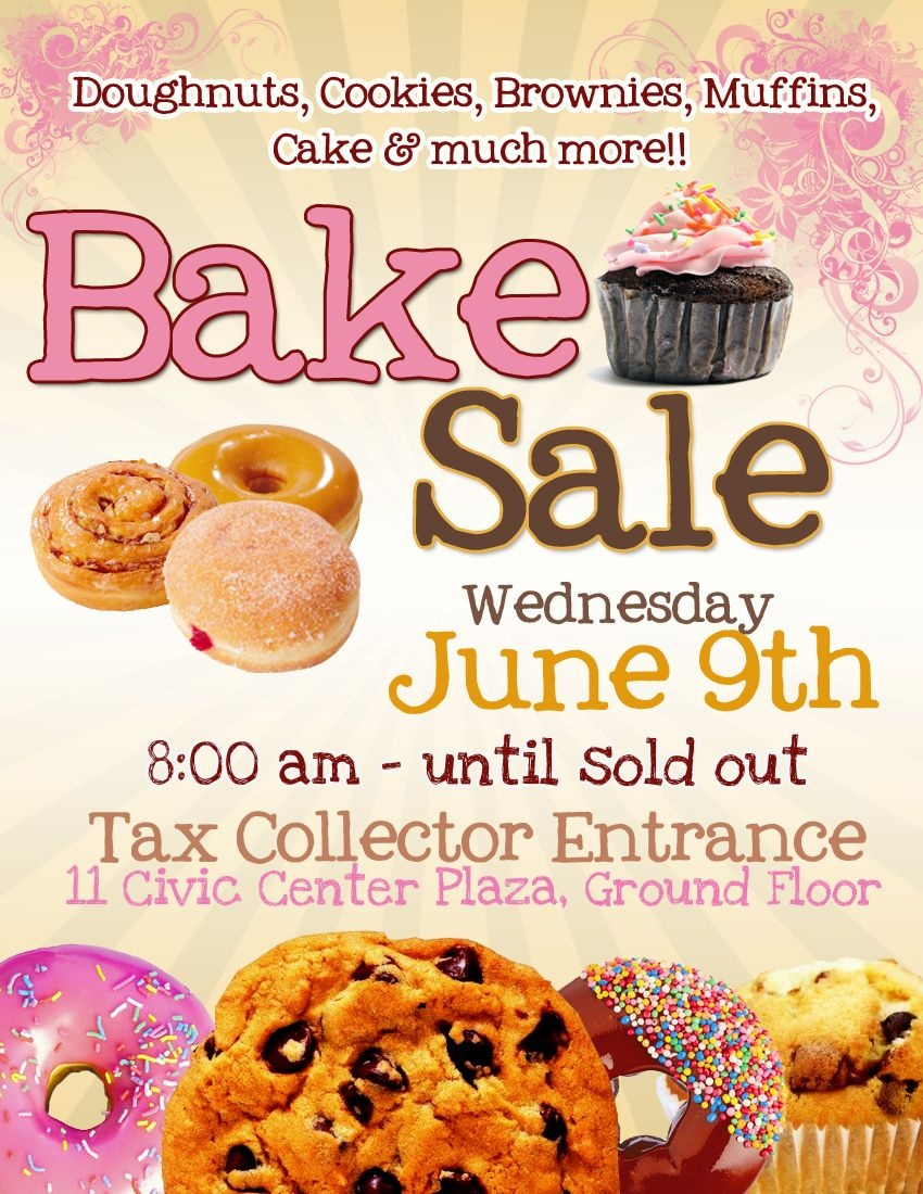 Bake Sale Flyer Template Free Cakepins … | Flyers In 2019… - Free Printable Fundraiser Flyer Templates