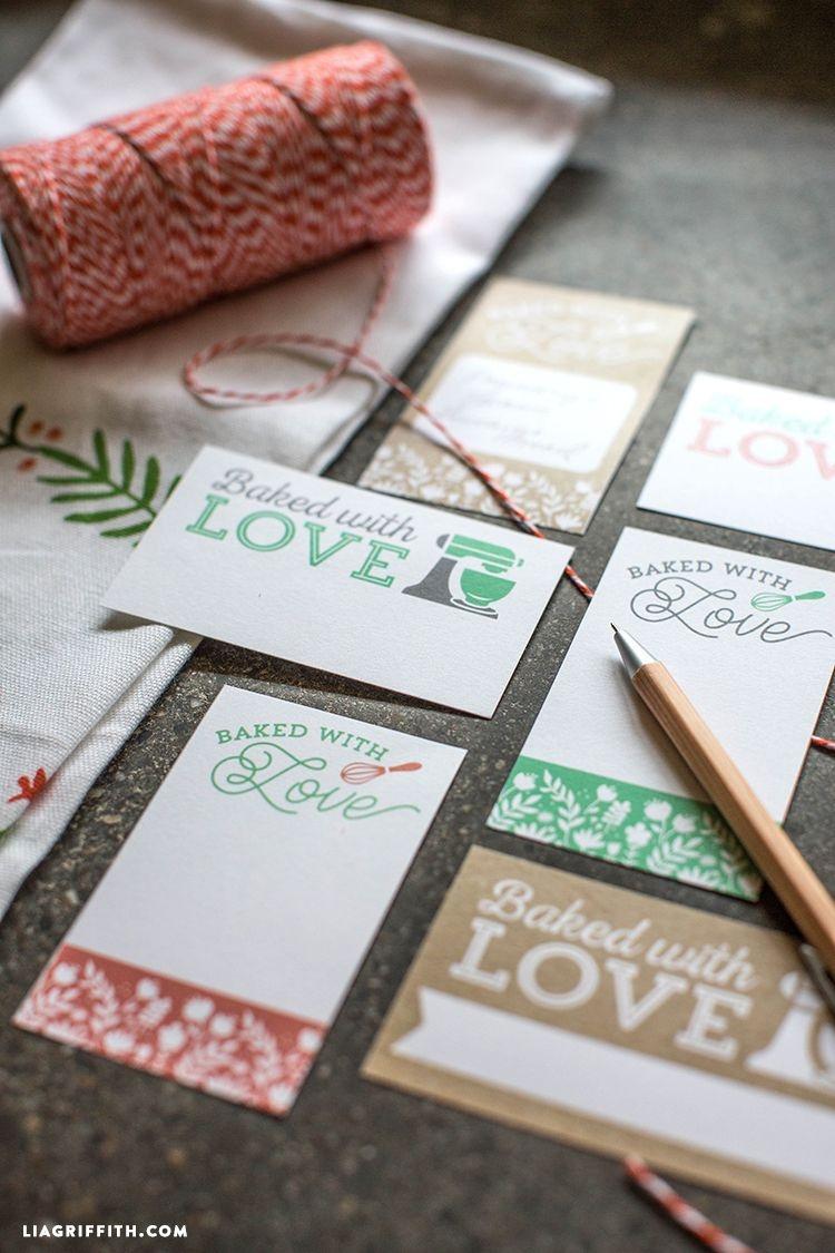 Baking Theme Gift Labels   Free Printables - Free Printable Baking Labels