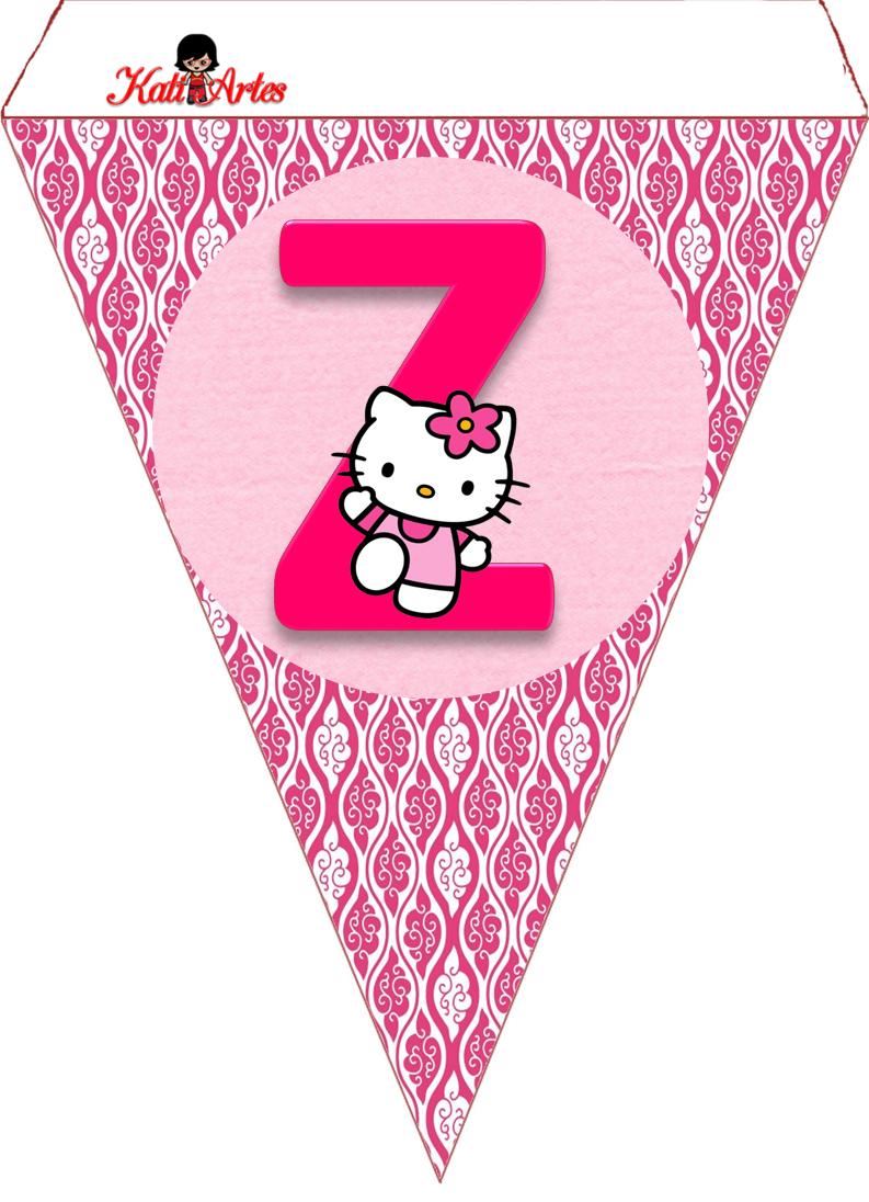 Bandeirolas Hello Kit | Hello Kitty Printables | Hello Kitty - Free Printable Hello Kitty Alphabet Letters