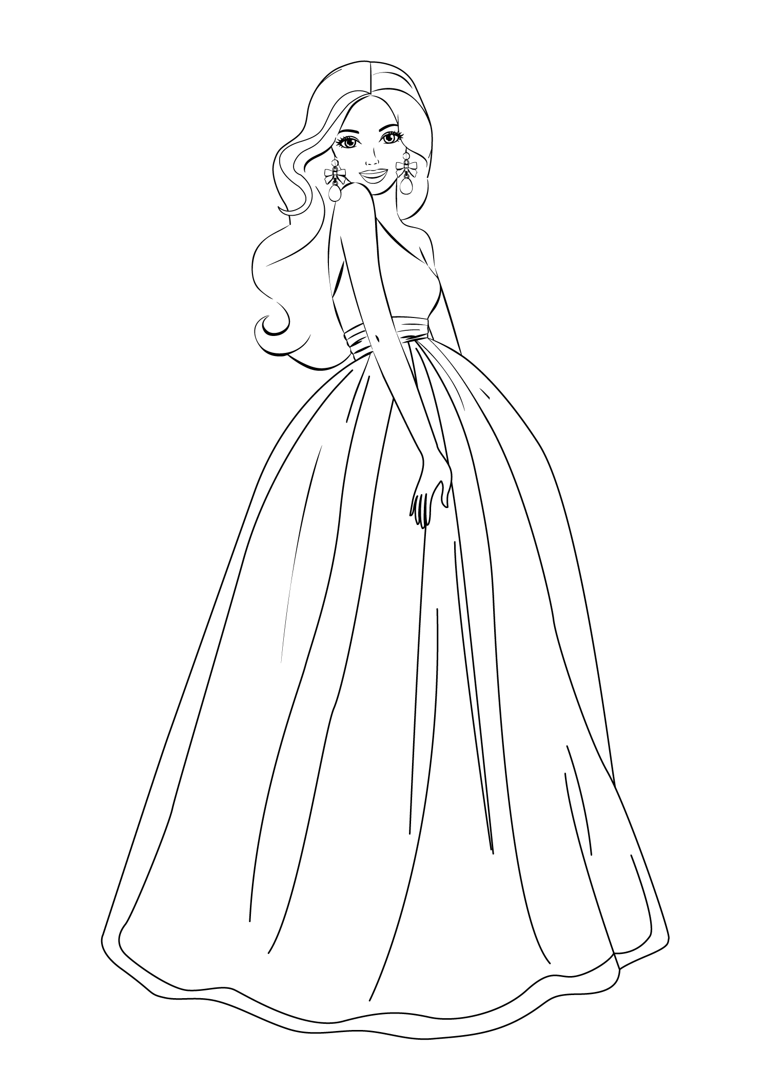 Barbie Coloring Pages For Girls Free Printable   Barbie   Barbie - Free Printable Barbie Coloring Pages