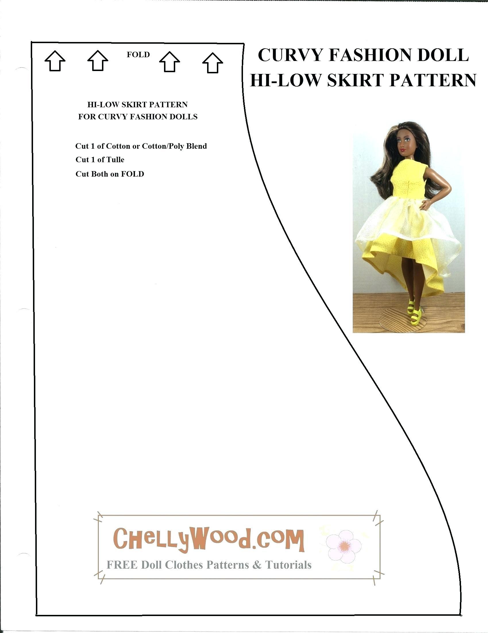 Barbie Dress Patterns Free Printable Pdf   Saddha - Free Printable Sewing Patterns Pdf