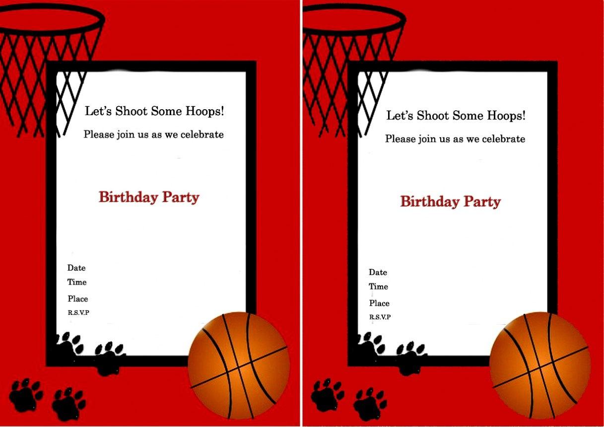 Basketball Birthday Invitations Invitation Pvc Invites Vip - Basketball Invites Free Printable