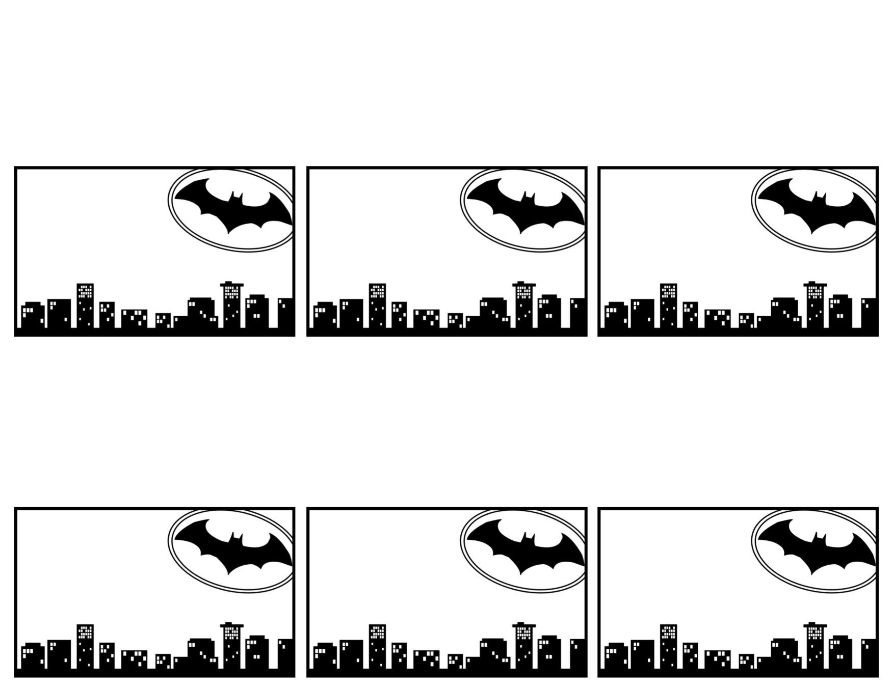 Batman Name Tags Free Printable | Batman | Batman Name, Batman - Superhero Name Tags Free Printable