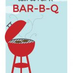 Bbq Cookout   Free Printable Bbq Party Invitation Template   Free Printable Cookout Invitations