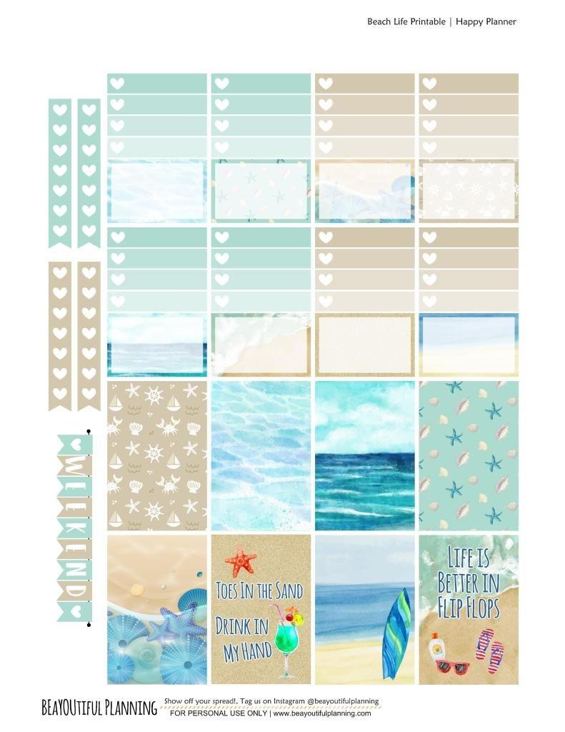 Beach – Free Printable | School Supplies - Organisatie, Kalender En Diys - Free Printable Beach Pictures