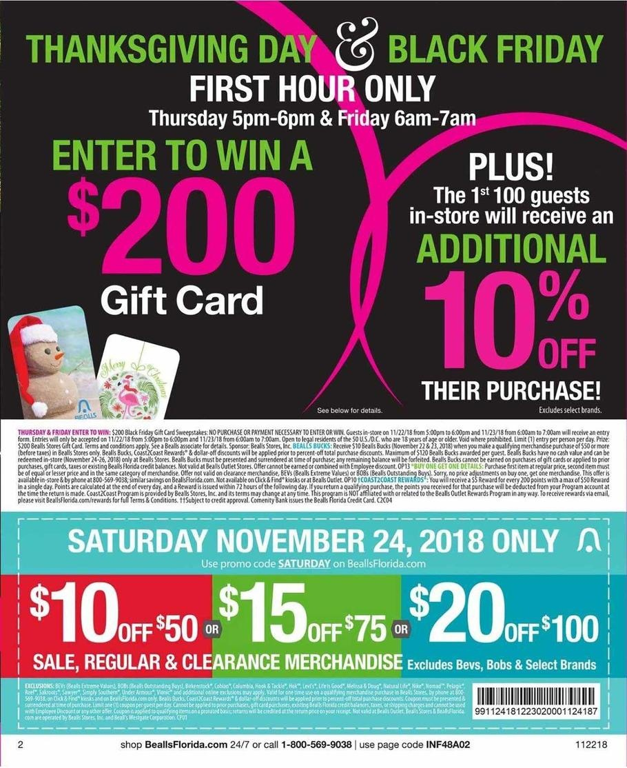 Bealls Florida Black Friday Ads, Sales, Doorbusters, And Deals 2018 - Free Printable Bealls Florida Coupon