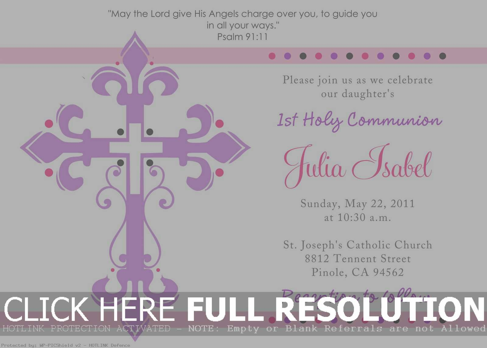 Beaufiful First Communion Invitation Template Photos. First Holy - Free Printable 1St Communion Invitations