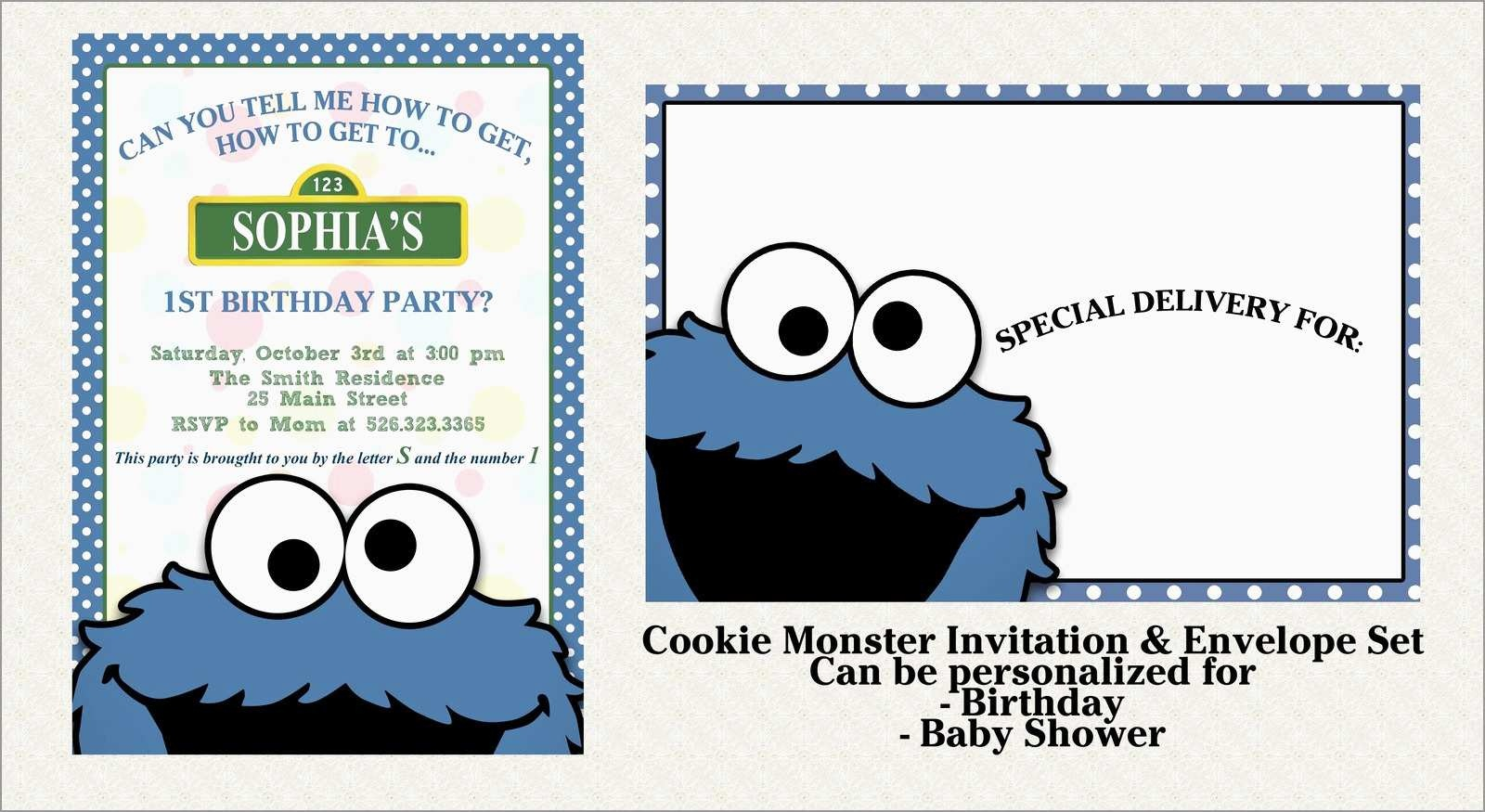 Beautiful Free Monster Invitation Template | Best Of Template - Free Printable Cookie Monster Birthday Invitations
