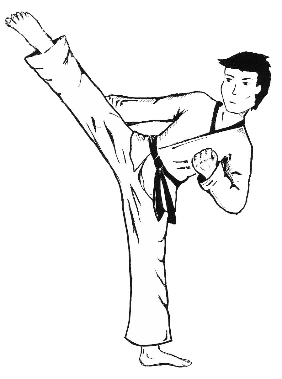 Beautiful Free Printable Karate Coloring Pages | Coloring Pages - Free Printable Karate Coloring Pages