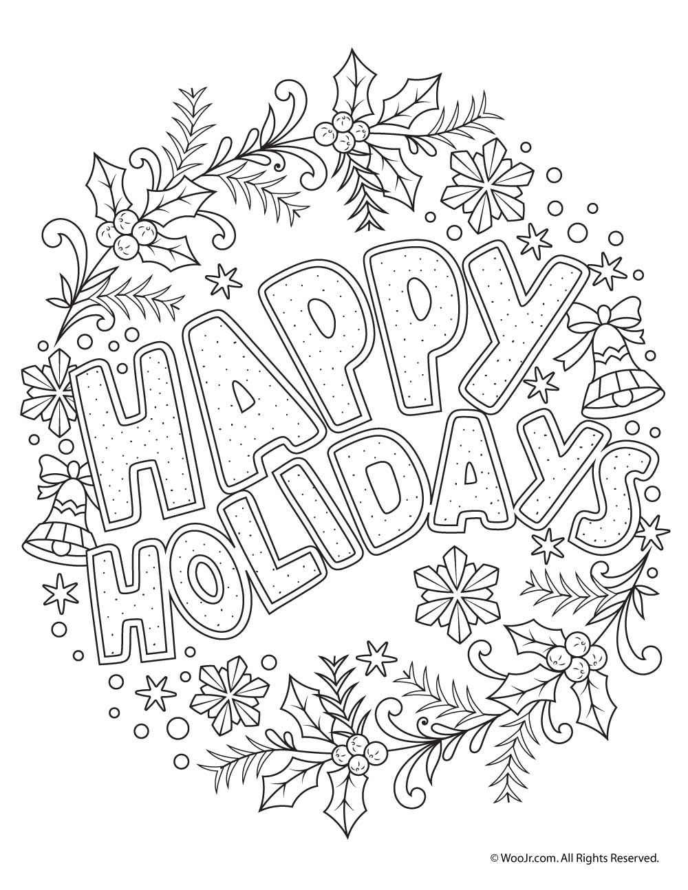 Beautiful Printable Christmas Adult Coloring Pages   Coloring Pages - Free Printable Christmas Coloring Pages