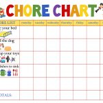 Behaviour Charts For 6 Year Olds | Kiddo Shelter | Printable Reward   Free Printable Job Charts For Preschoolers