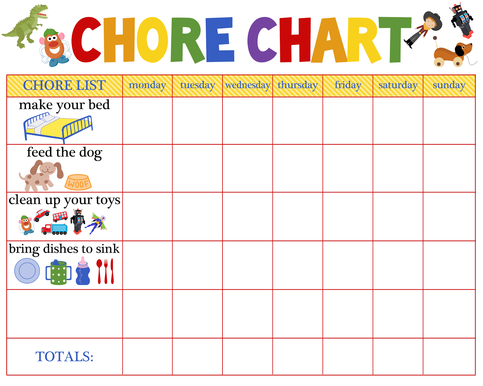 Behaviour Charts For 6 Year Olds | Kiddo Shelter | Printable Reward - Free Printable Job Charts For Preschoolers