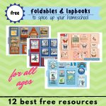 Best 12 Free Foldables & Lapbooks Printables For Homeschooling   Free Printable Lapbook Templates
