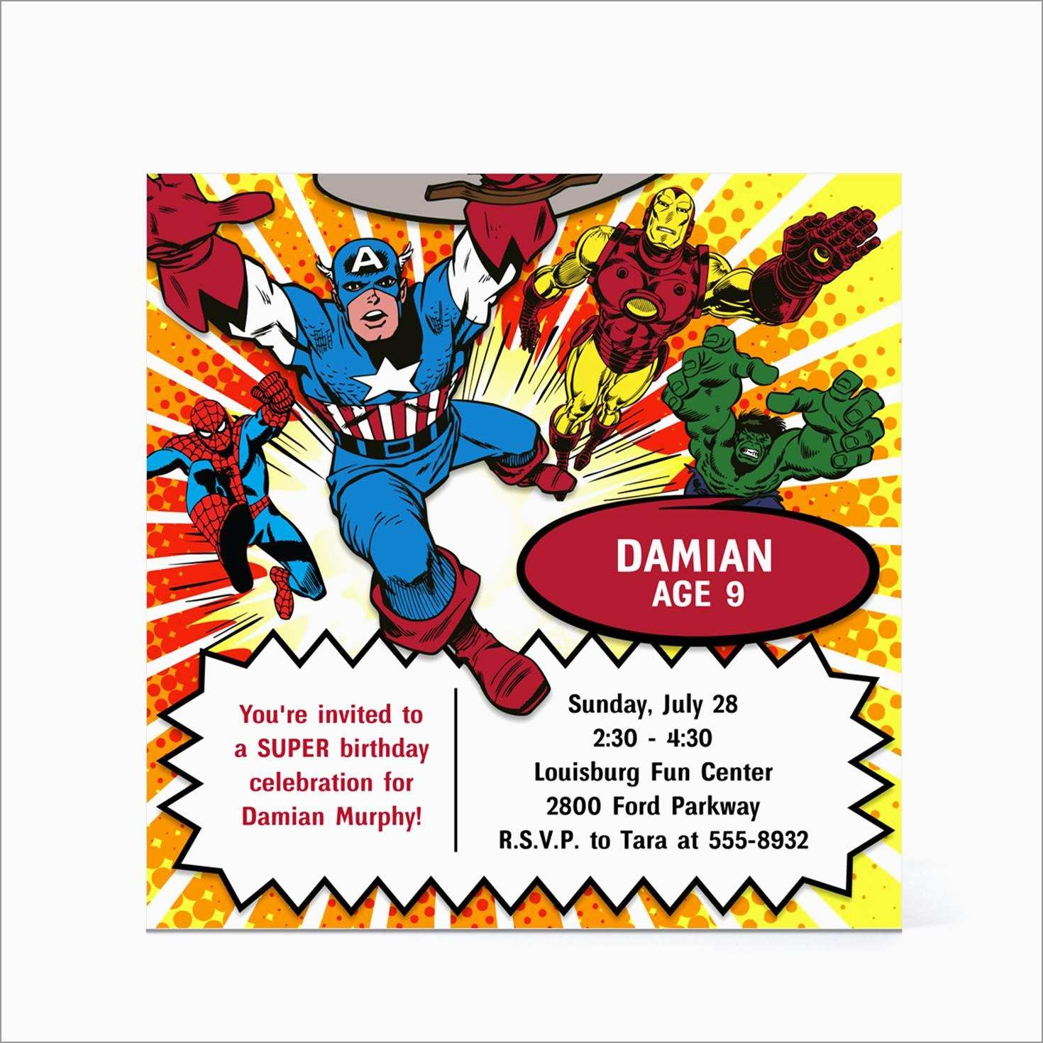 Best Of Marvel Party Invitation Template Free   Best Of Template - Free Printable Avengers Birthday Party Invitations