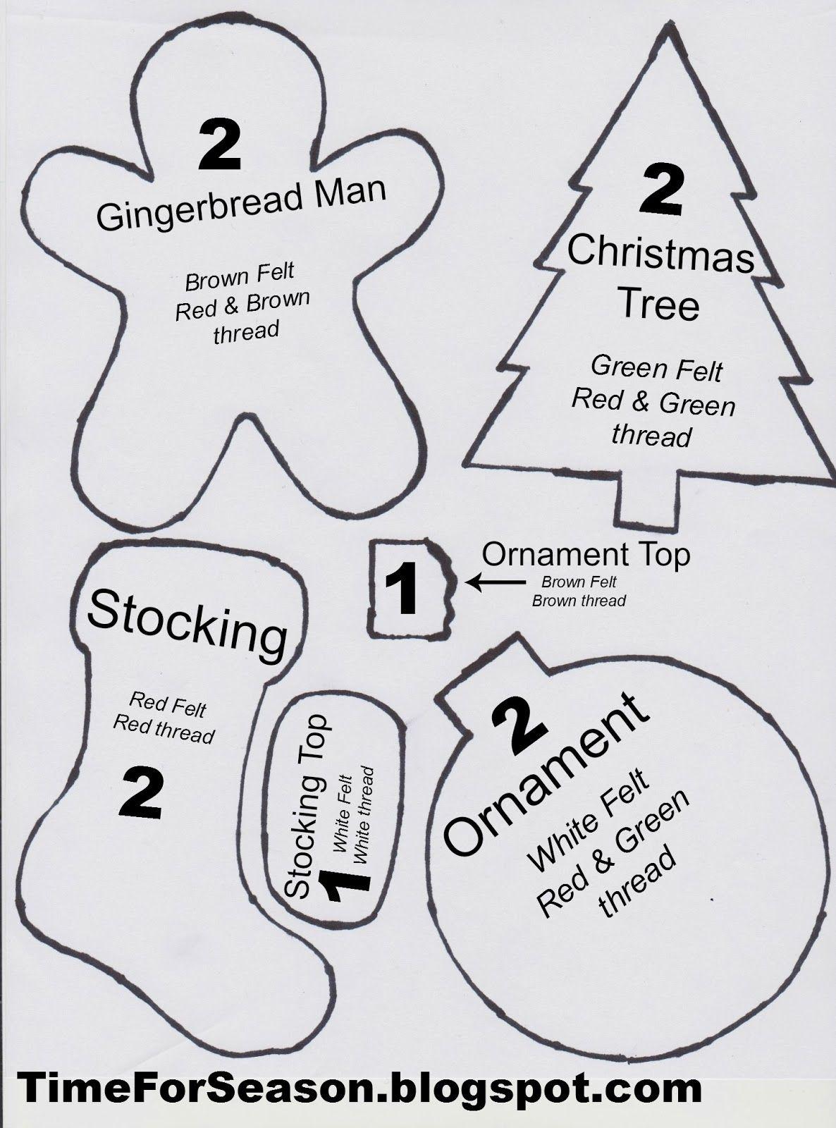 Best Photos Of Christmas Felt Ornament Patterns Printable  More - Free Printable Christmas Ornaments Stencils