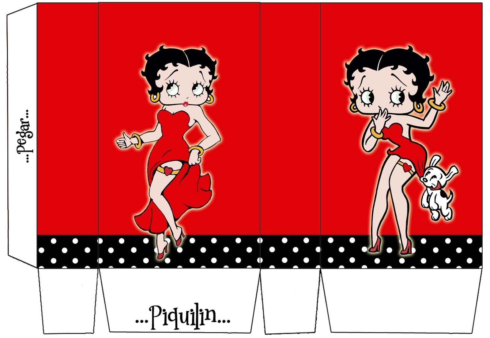 Betty Boop: Free Printable Mini Kit. | 50 Ste Verjaardag A. - Betty - Free Printable Betty Boop