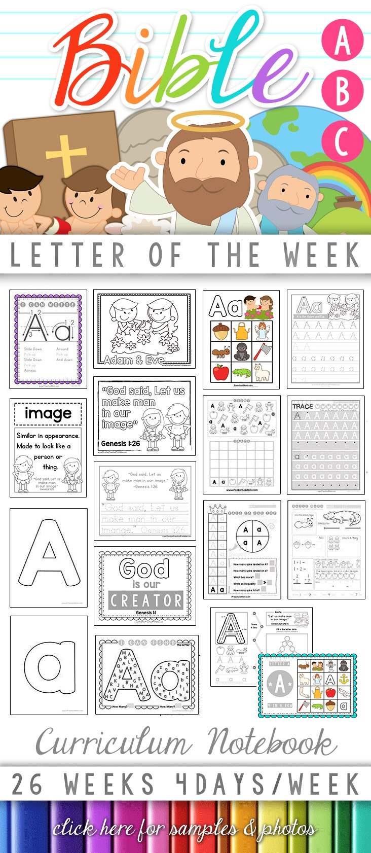Bible Abc Printables - Christian Preschool Printables - Free Printable Bible Crafts