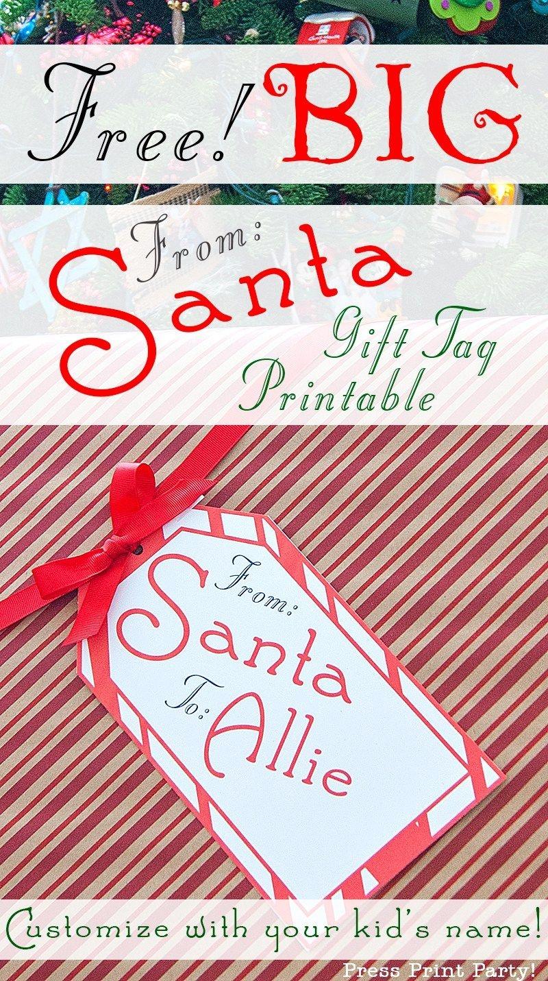 Big Free Printable Christmas Gift Tag - Press Print Party - Free Printable Customizable Gift Tags