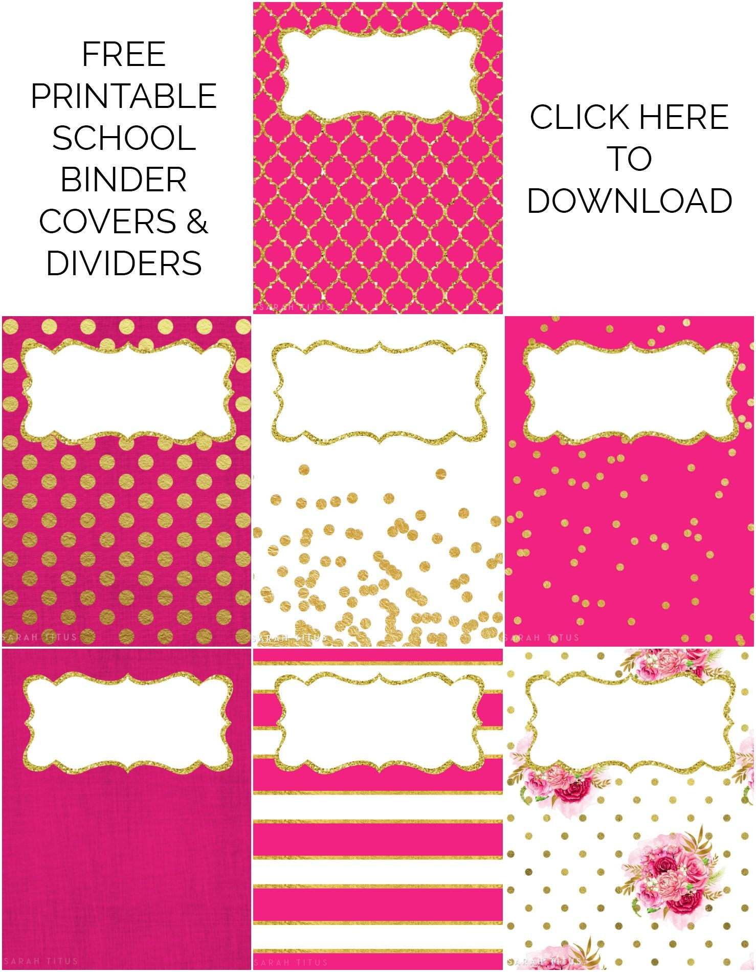 Binder Covers / Dividers Free Printables   Plans   Binder Covers - Free Printable Binder Covers