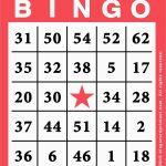 Bingo Card Template Free Great Free Printable Bingo Cards Template   Printable Bingo Template Free