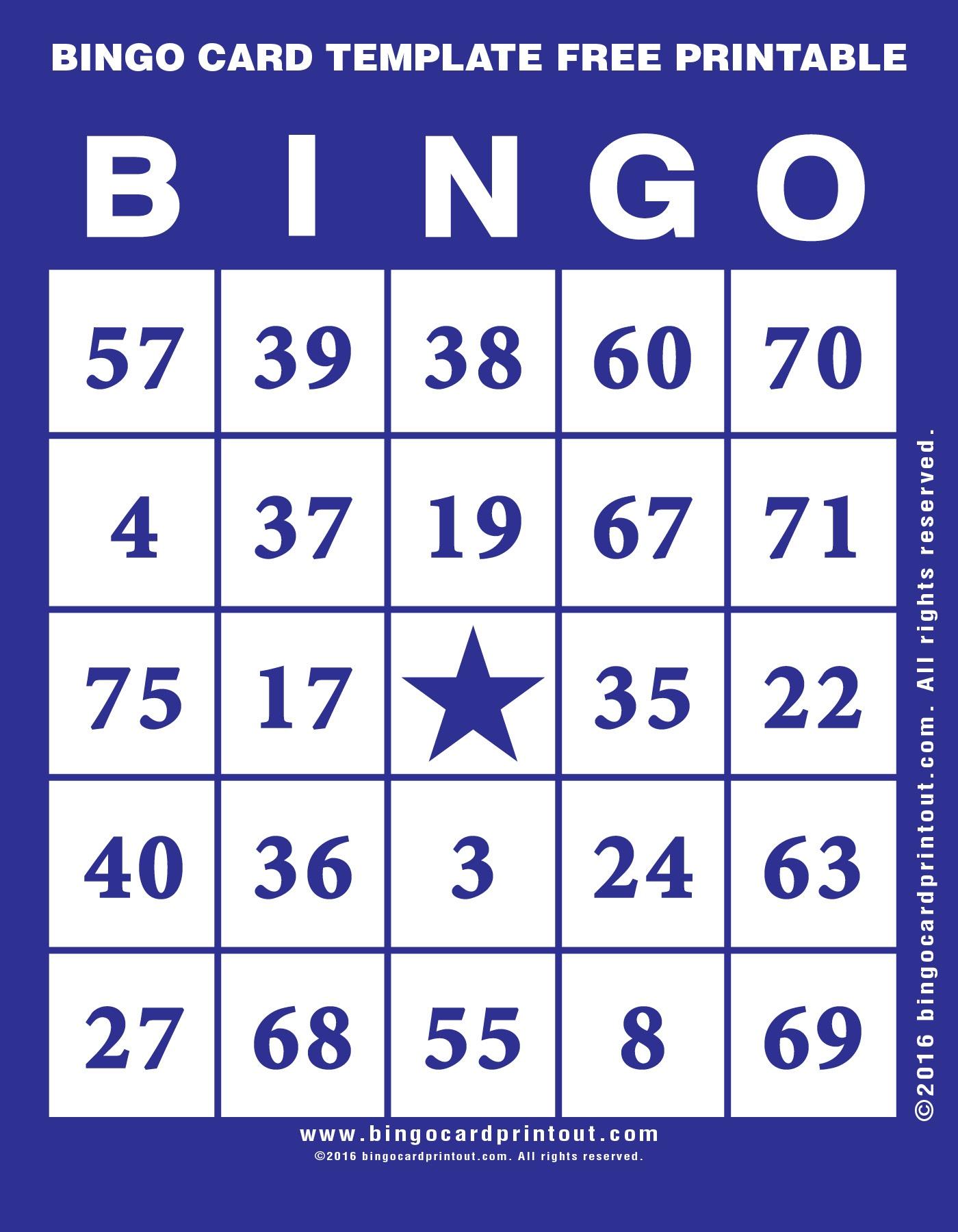 Bingo Card Template Free Printable - Bingocardprintout - Free Printable Bingo Cards 1 75