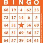 Bingo Card Template Free Printable   Bingocardprintout   Printable Bingo Template Free