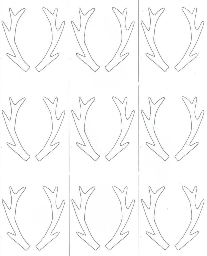 Birch Slice Antler Ornaments + Printable | Reindeer | Christmas - Reindeer Antlers Template Free Printable