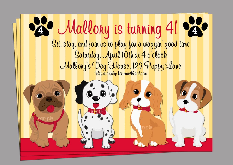 Birthday Invitation. Dog Birthday Invitations Free Printable - Dog Birthday Invitations Free Printable