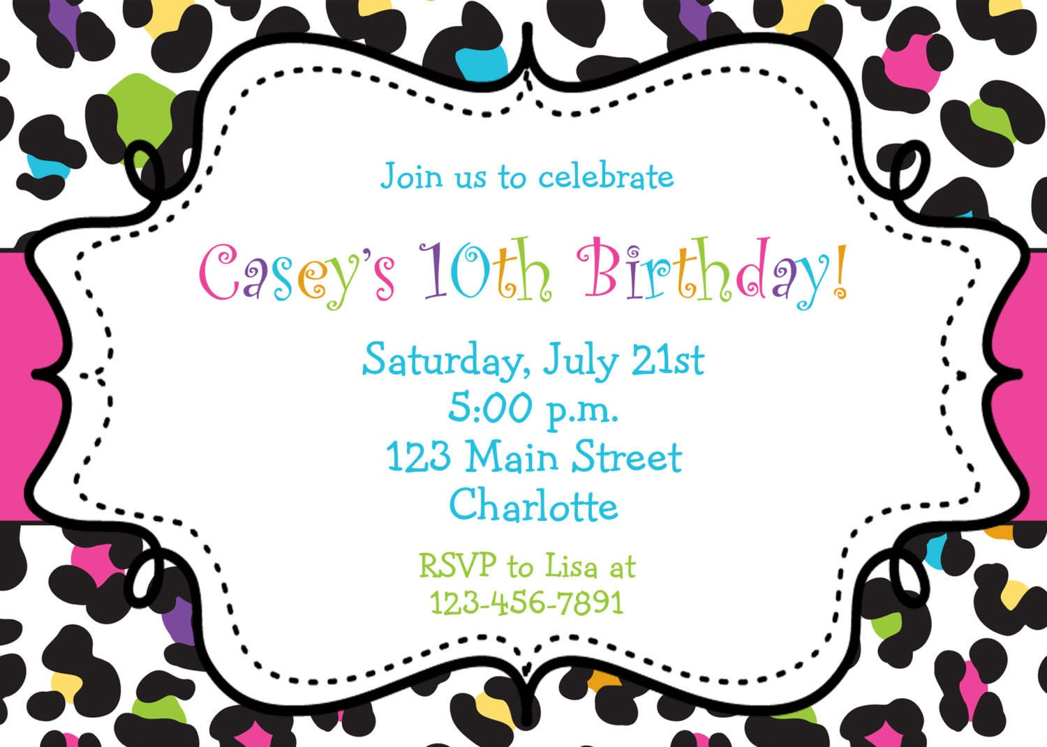 Birthday Invitations Browsing Exclusive Animal Print Themed - Clip - Free Printable Animal Print Birthday Invitations