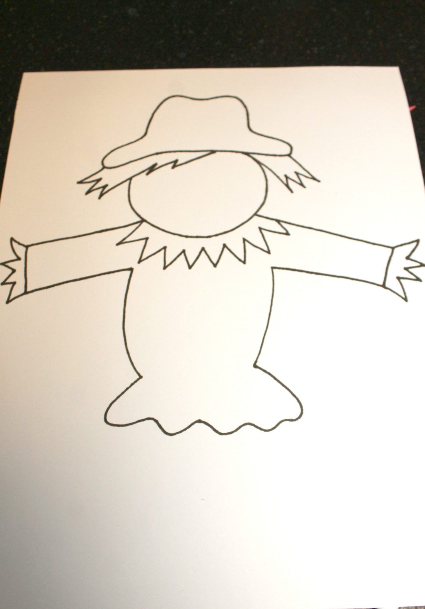 Black Glue Scarecrow Puppets   Preschoolers Activities   Scarecrow - Free Scarecrow Template Printable