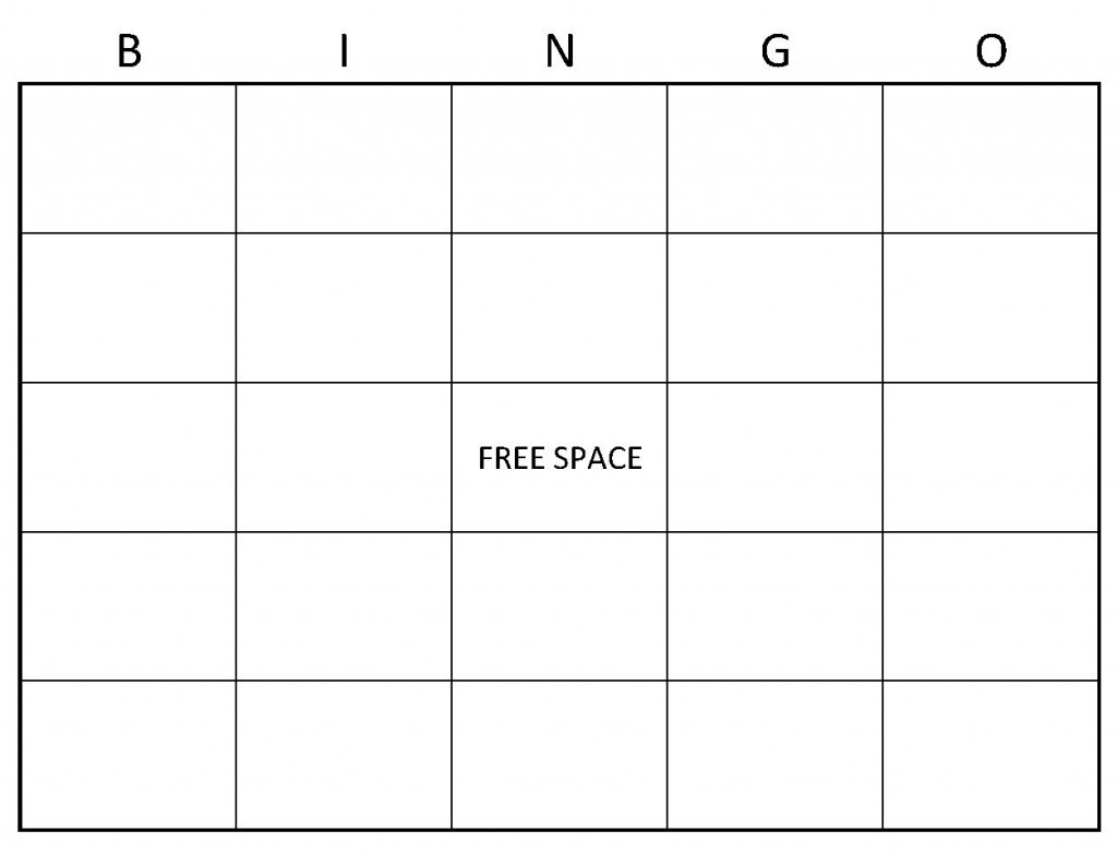Blank Bingo Cards   Blank Bingo Card Template - Free Printable Blank Bingo Cards