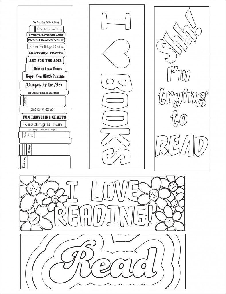 Blank Bookmark Template, Bookmark Template   Bookmarker Ideas - Free Printable Bookmarks Templates