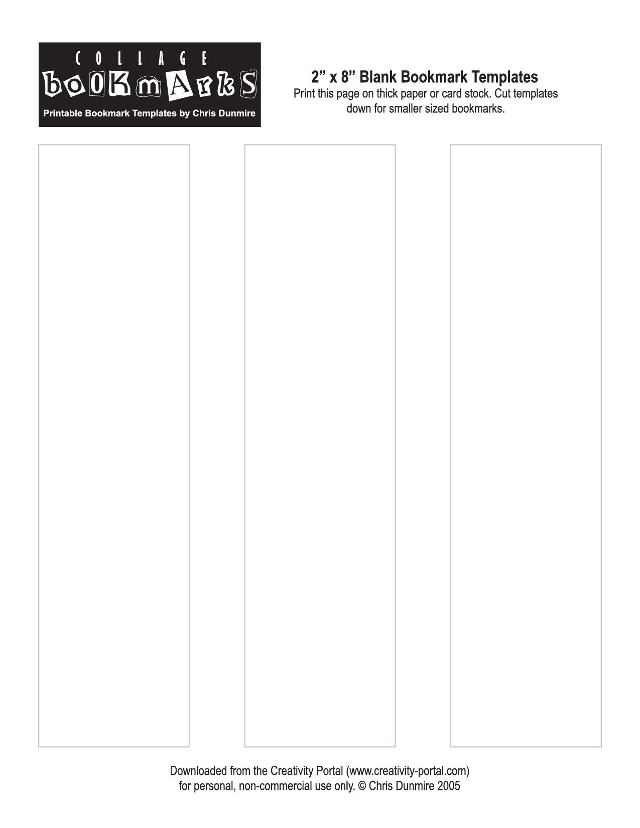 Blank Bookmark Template Printable | Printables!@!@!@ | Bookmark - Free Printable Blank Bookmarks