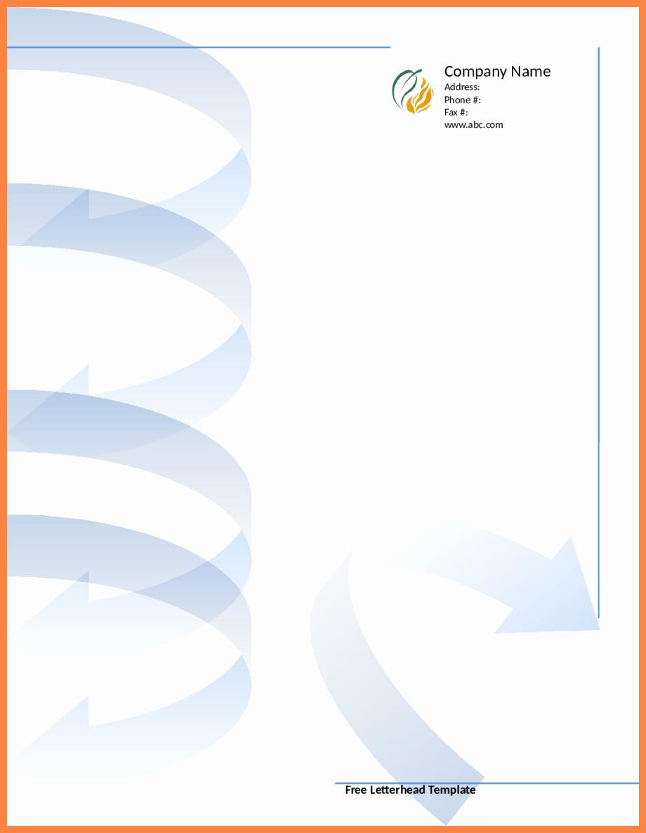 Blank Letterhead Template Free 10 Printable Letterhead Templates - Free Printable Letterhead Templates