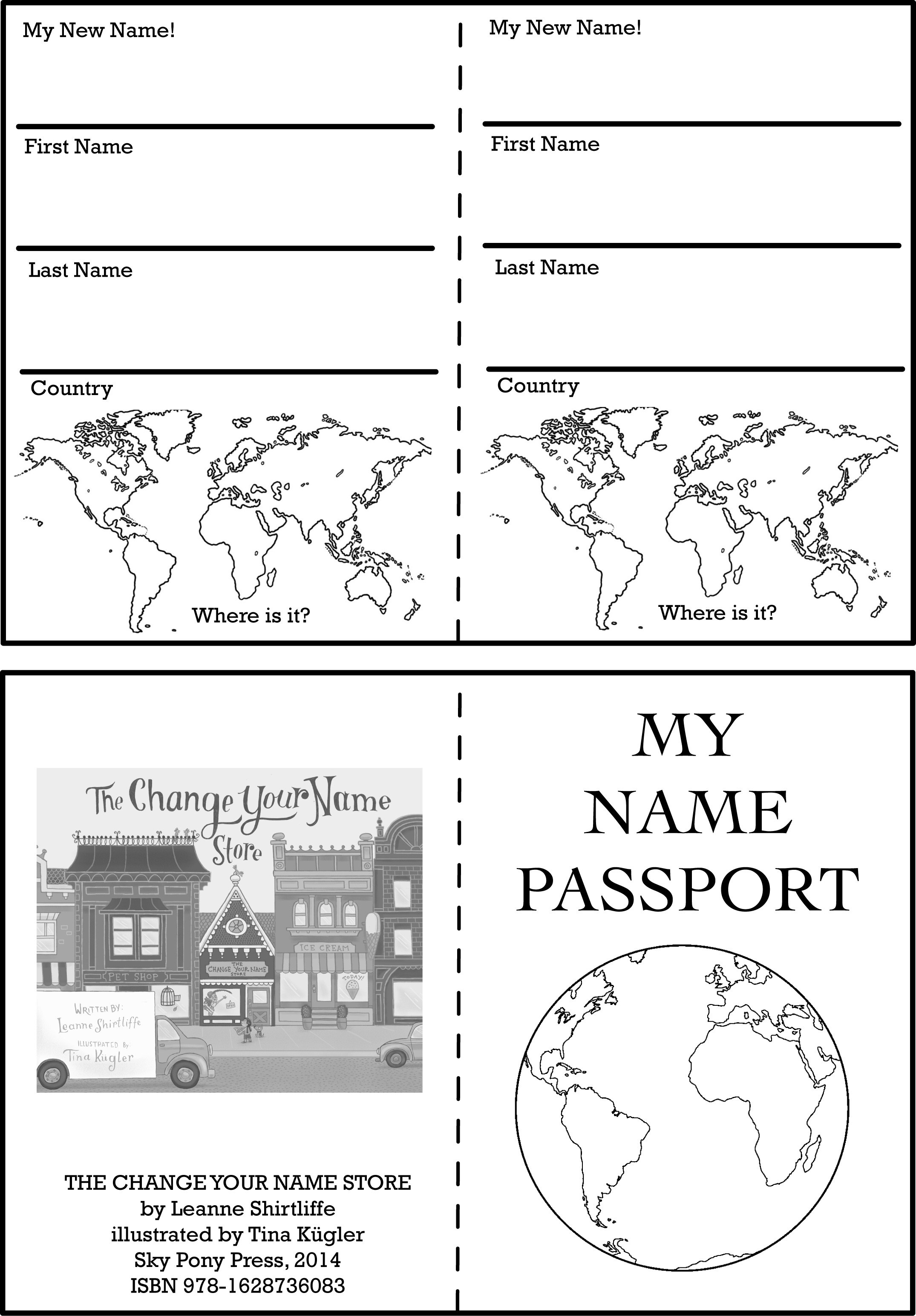 Blank Passport Template. Passport Symbol Coloring Page With Their - Free Printable Passport Template
