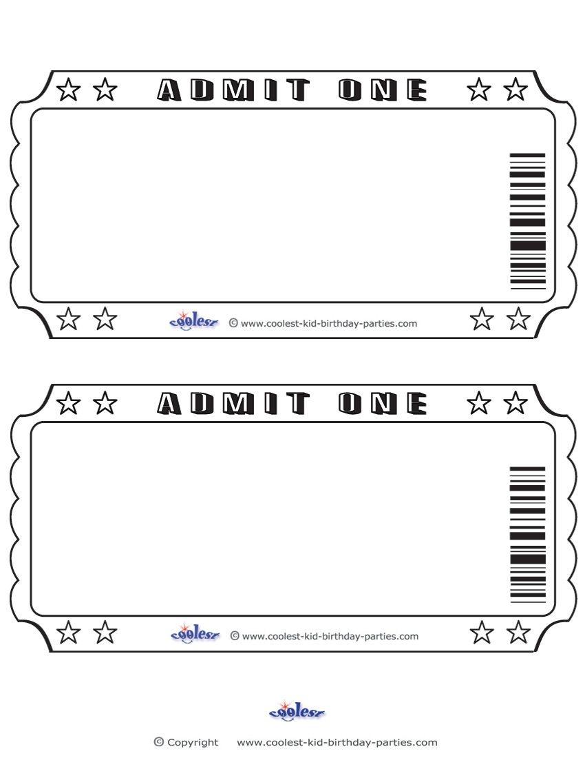 Blank Printable Admit One Invitations Coolest Free Printables | Dj B - Free Printable Ticket Invitations
