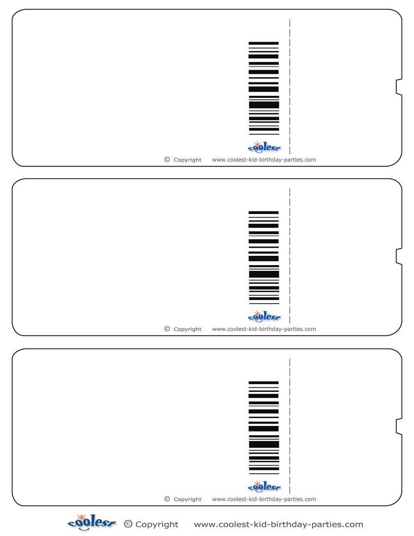 Blank Printable Airplane Boarding Pass Invitations - Coolest Free - Free Printable Ticket Invitations