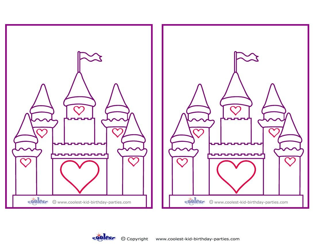 Blank Printable Castle Invitations - Coolest Free Printables | Party - Free Printable Castle Templates