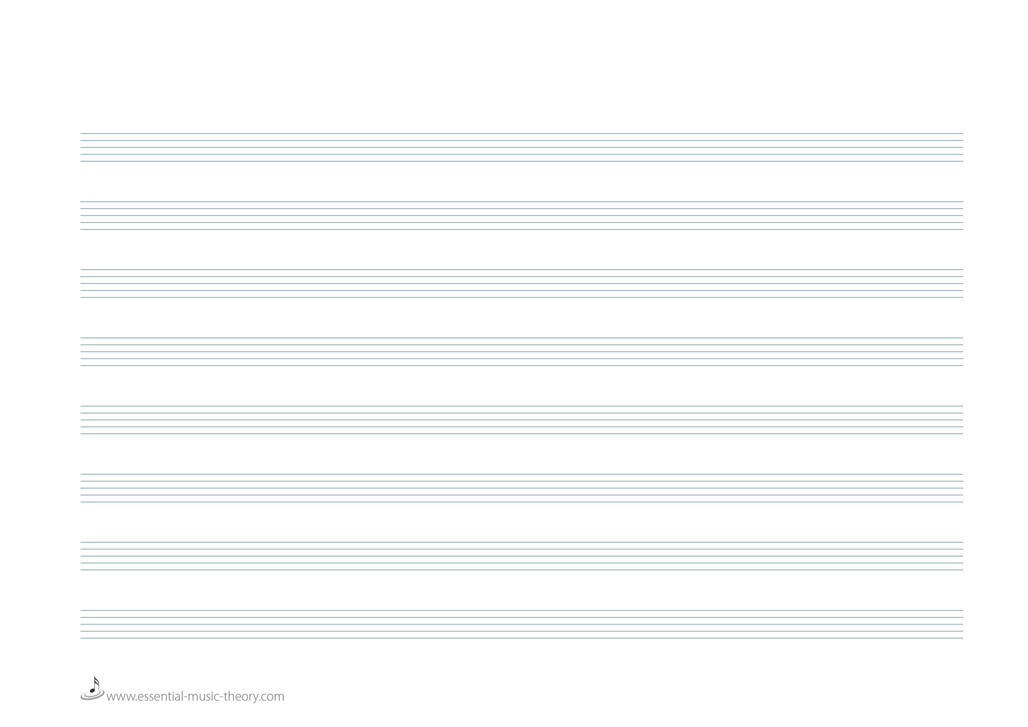 Blank Sheet Music Png & Free Blank Sheet Music Transparent - Free Printable Staff Paper Blank Sheet Music Net
