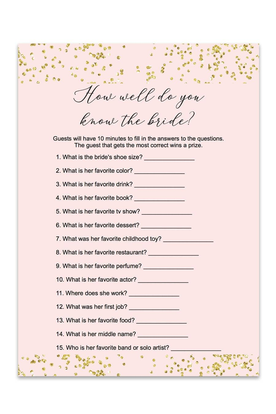 Blush And Confetti How Well Do You Know The Bride Game | Love<3 - Free Printable Bridal Shower Games Word Scramble