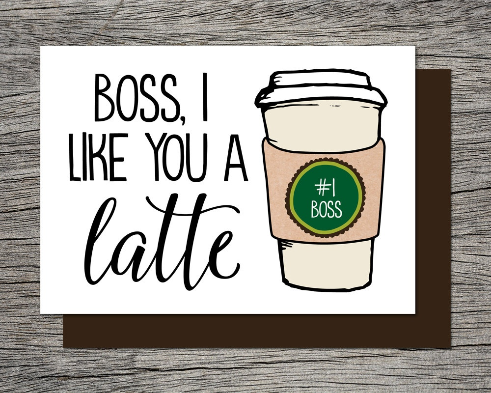 Boss's Day Card Bosses Day Card Printable Card Boss | Etsy - Boss Day Cards Free Printable