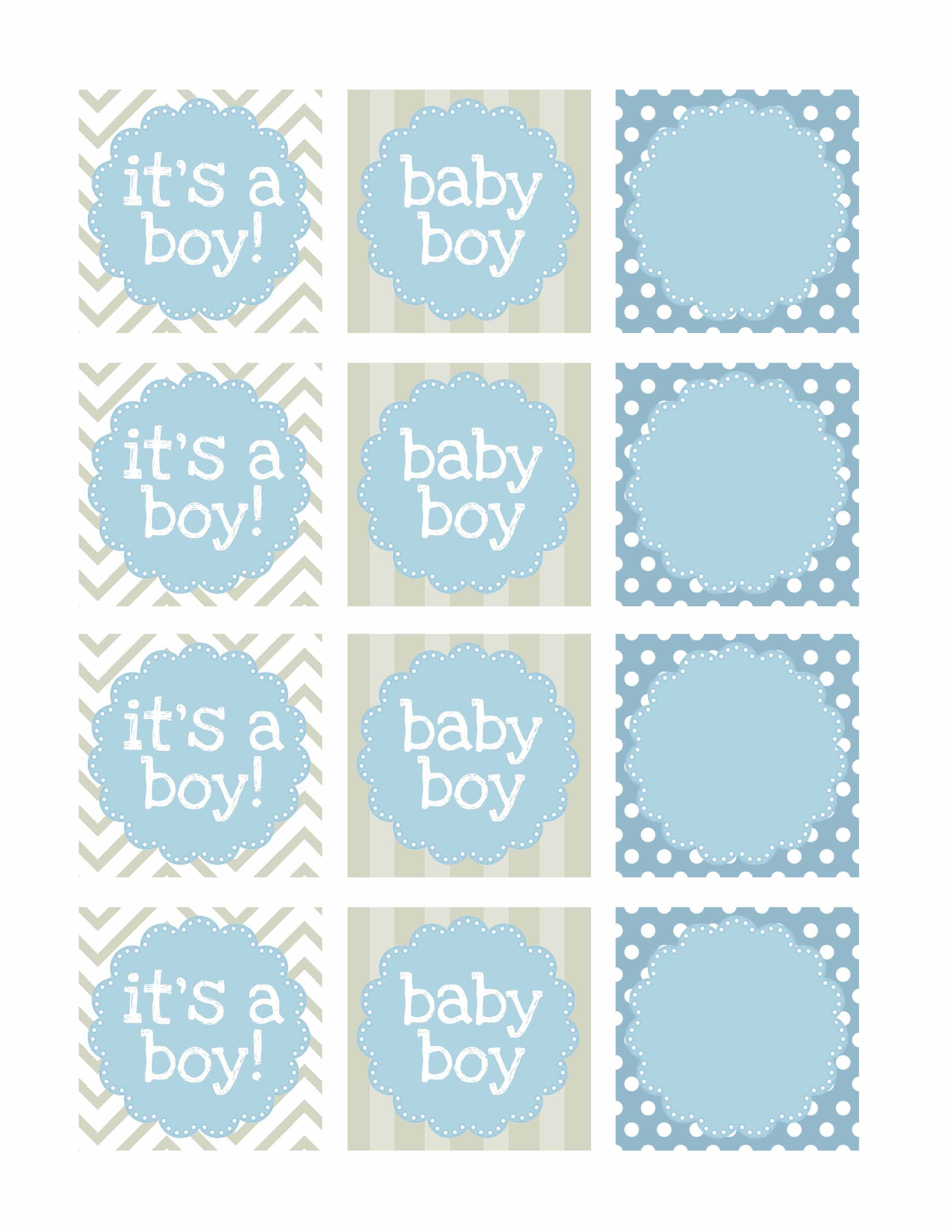 Boy Baby Shower Free Printables | Baby Shower | Baby Shower Labels - Free Printable Baby Boy Cards