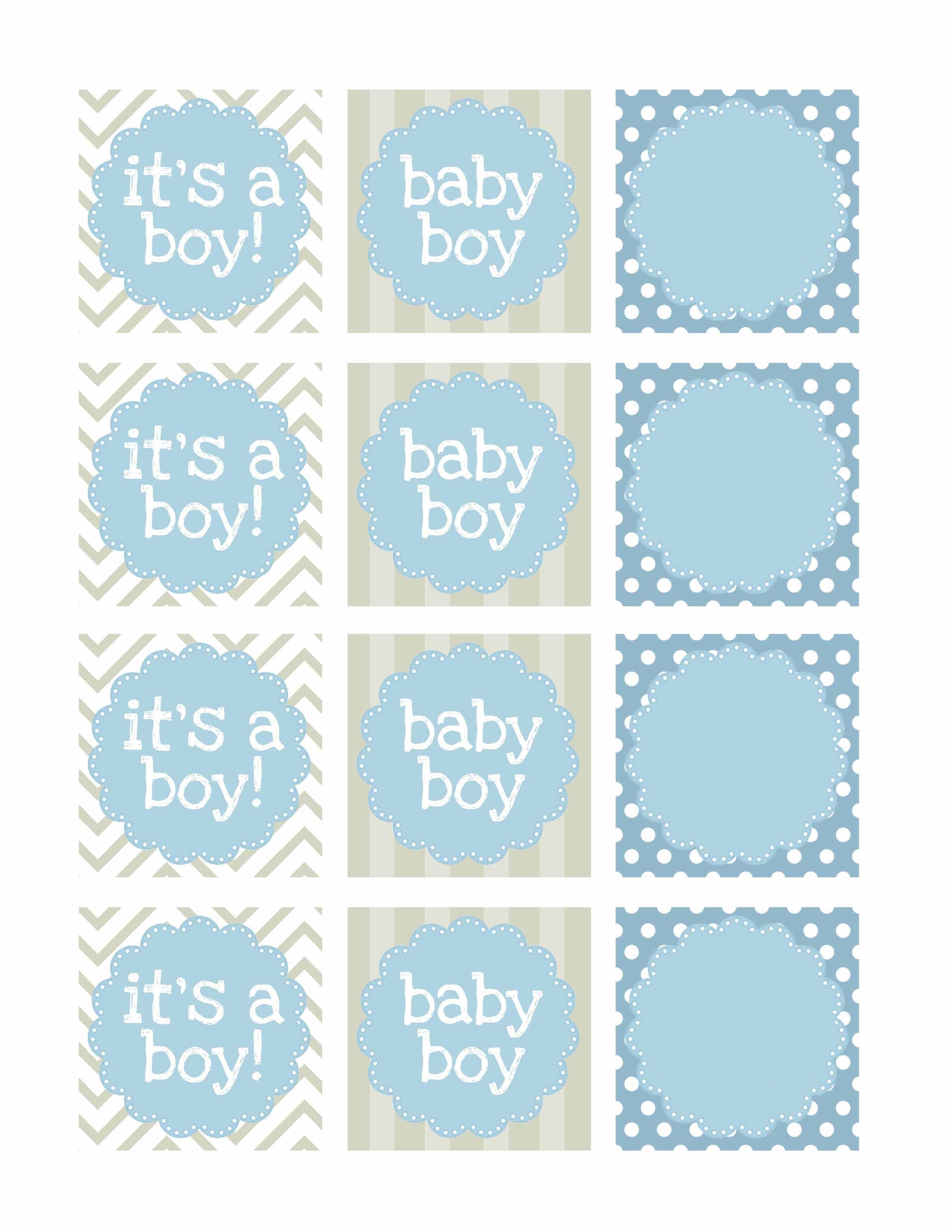 Boy Baby Shower Free Printables | Printable | Návody, Nápady, Tisk - Free Printable Baby Shower Favor Tags