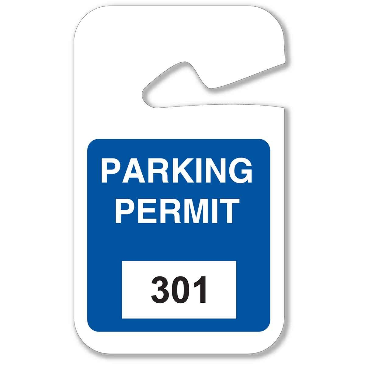Brady Part: 96264 | Rearview Mirror Hanging Tags | Bradyid - Free Printable Parking Permits