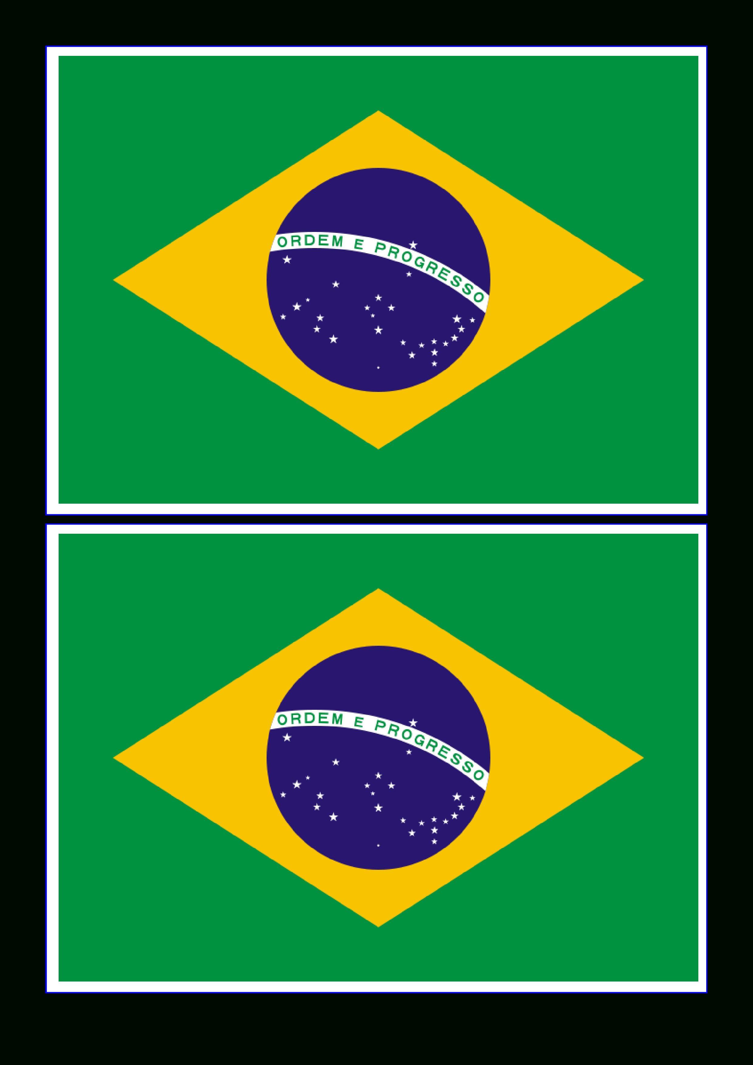 Brazil Flag - Free Printable Brazil Flag   Templates   Brazilië - Free Printable Brazil Flag